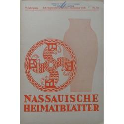 Nassauische Heimatblätter 39. Jahrgang, Juli - Dezember 1938, Nr. 3/4