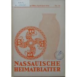 Nassauische Heimatblätter 35. Jahrgang, Januar - Juni 1934, Nr. 1/2