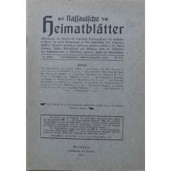 Nassauische Heimatblätter 34. Jahrgang, Juli - Dezember 1933, Nr. 3/4