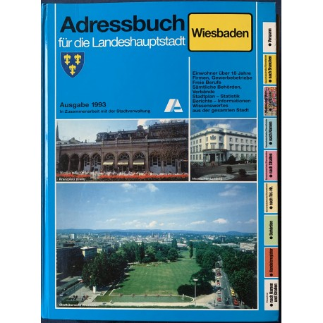 Adressbuch für die Landeshauptstadt Wiesbaden 1993